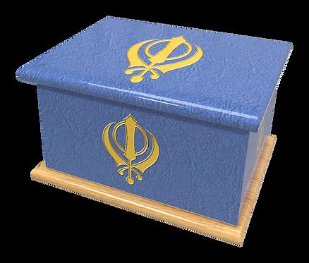 Custom Personalised Cremation Ashes Casket RELIGIOUS SPIRITUAL FAITH SIKH