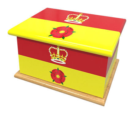 Personalised Custom Cremation Ashes Caskets COUNTRY AND BRITISH COUNTY FLAGS HAMPSHIRE