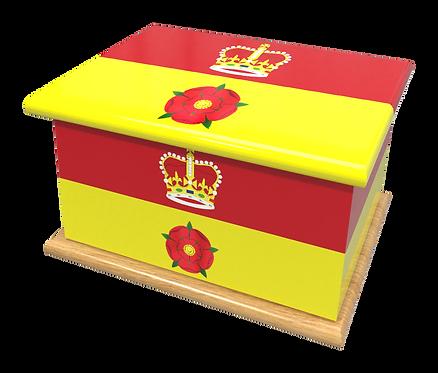 Personalised Custom HAMPSHIRE FLAG Cremation Ashes Casket