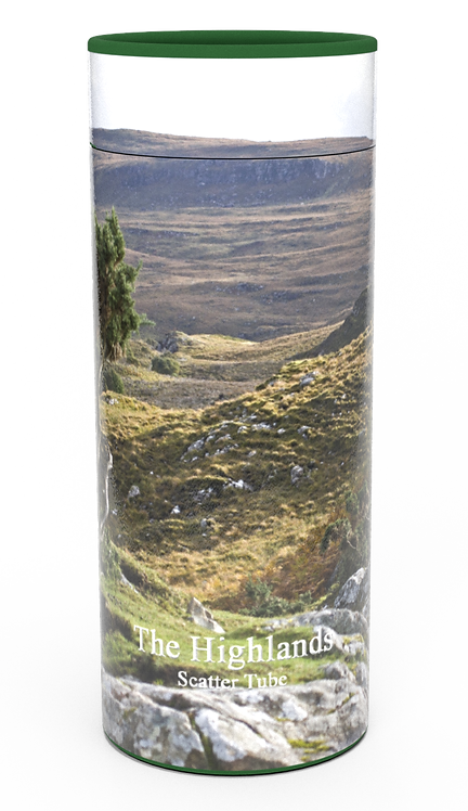 Custom Personalised Cremation Ashes Casket Urn Scenic Landscape HIGHLANDS