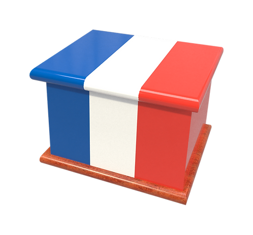 Personalised Custom FRENCH FRANCE FLAG Cremation Ashes Casket
