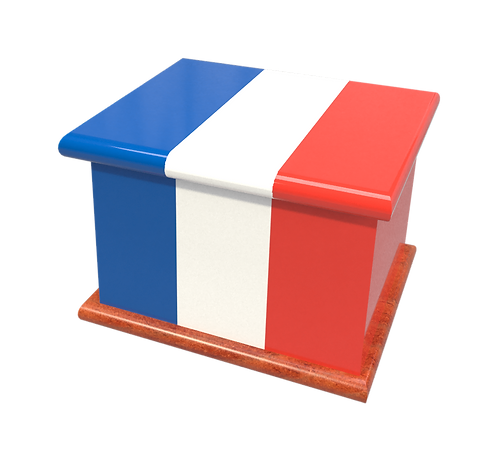 Personalised Custom Cremation Ashes Caskets COUNTRY AND BRITISH COUNTY FLAGS FRANCE FRENCH