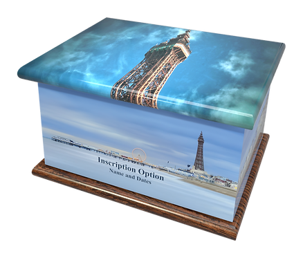 Custom Personalised Bespoke Cremation Ashes Casket BLACKPOOL PLEASURE BEACH TOWER
