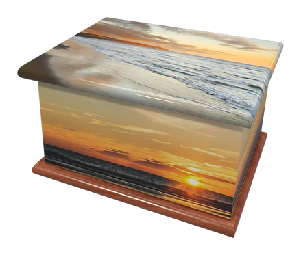 Custom Personalised Cremation Ashes Casket Urn SUNSET BEACH