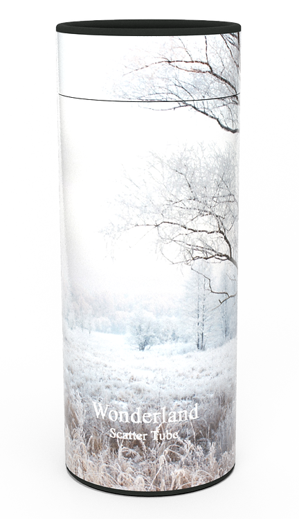 Custom Personalised Cremation Ashes Casket Urn Scenic Landscape MORNING SNOW