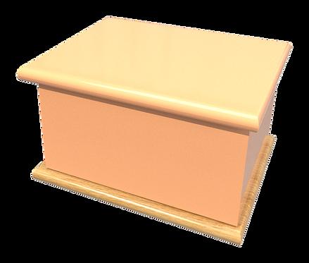 Custom Personalised Bespoke Cremation Ashes Casket PEACH ORANGE