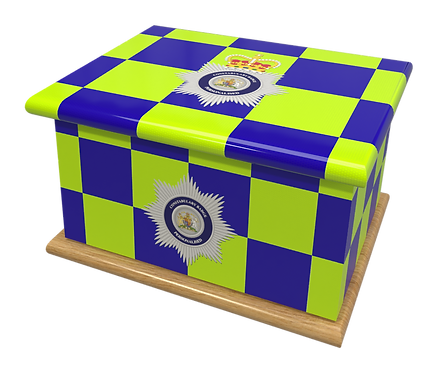 Custom Personalised Cremation Ashes Casket Urn POLICE OFFICER CONSTABULARY