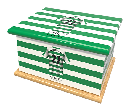 Custom Personalised Cremation Ashes Casket Urn FOOTBALL TEAM CELTIC