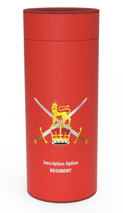 Custom Personalised Cremation Ashes Casket Urn Military Armed Service Forces BRITISH ARMY RED