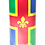 Personalised Custom Bespoke Ashes Scattering Tube Urn for Cremated Remains in Flag LINCOLNSHIRE design