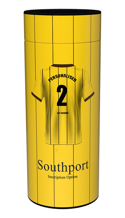 Custom Personalised Cremation Ashes Casket Scatter Tube FOOTBALL SOUTHPORT