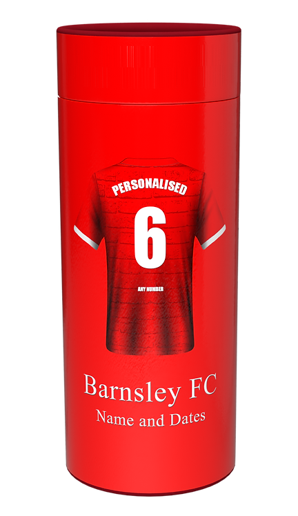 Custom Personalised Cremation Ashes Casket Urn Scatter Tube FOOTBALL TEAM BARNSLEY