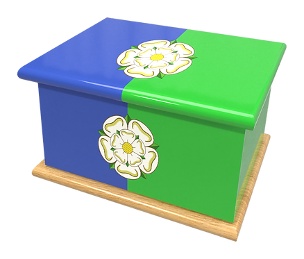 Personalised Custom EAST RIDING YORKSHIRE FLAG Cremation Ashes Casket