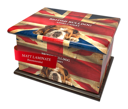 Custom Personalised Cremation Ashes Caskets Containers and Urns BRITISH BULLDOG