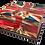 Custom Personalised Cremation Ashes Casket Urn BRITISH BULL DOG FLAG