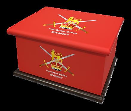 Custom Personalised Cremation Ashes Casket MILITARY RAF NAVY ROYAL MARINES