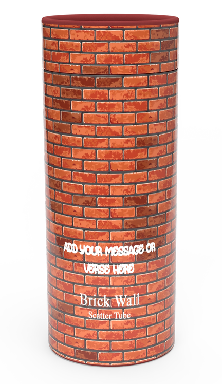 Custom Personalised Funeral Cremation Ashes Casket Urn Hobby Sport Interest BRICK WALL