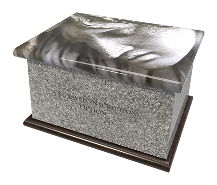 Personalised Custom Cremation Ashes Caskets and Keep-Sake Urns in a Spiritual Relgious HOLY ANGEL design