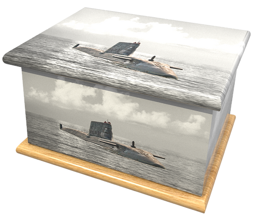 Personalised Custom Cremation Ashes Caskets and Keep-Sake Urns in a MILITARY ARMY NAVY AIRFORCE SUBMARINEdesignign