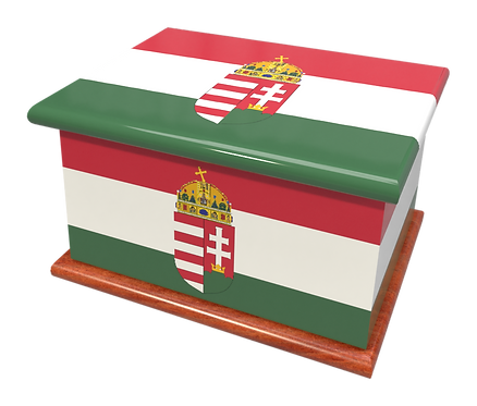 Custom Personalised Ashes Casket in a LITHUANIAN FLAG design