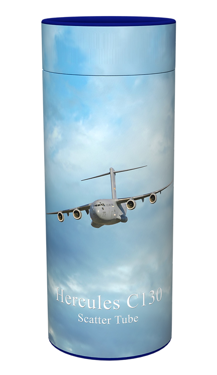 Custom Personalised Ashes Casket Urn Scatter Tube RAF HERCULES C130