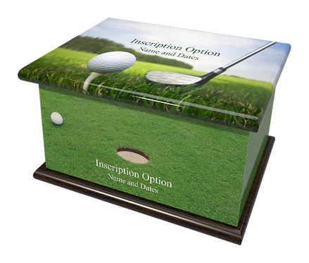 Custom Personalised Cremation Ashes Casket Urn GOLF