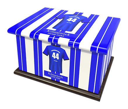 Custom Personalised Cremation Ashes Casket Urn FOOTBALL TEAM KILMARNOCK