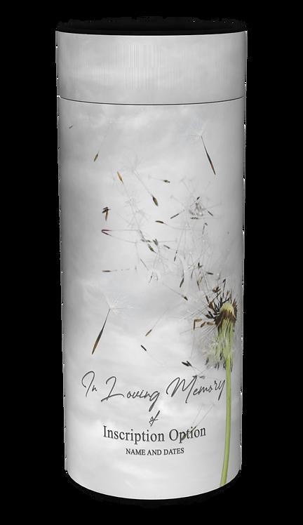 Custom Personalised Cremation Ashes Casket Scatter Tube Floral Design DANDELIONS