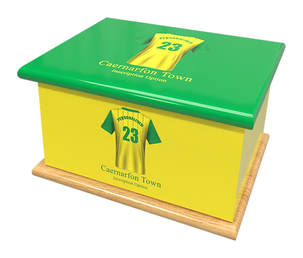 Custom Personalised Cremation Ashes Casket Urn FOOTBALL TEAM CAERNARFON TOWN WALES