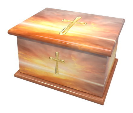Custom Personalised Cremation Ashes Casket Urn HEAVEN GOD RELIGION
