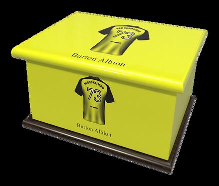 Custom Personalised Cremation Ashes Casket Urn FOOTBALL TEAM BURTON ALBION