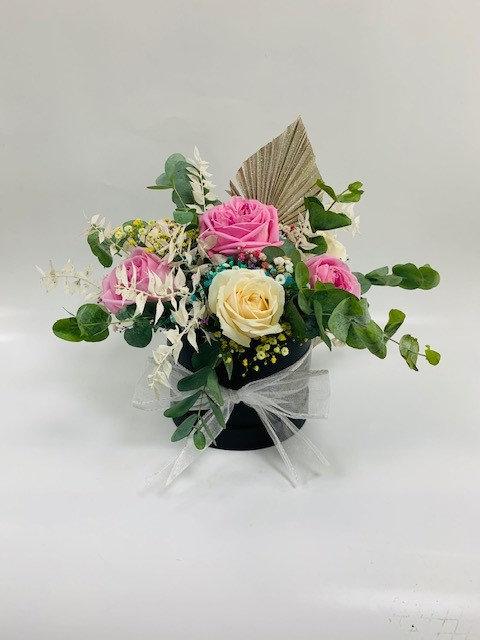 Fresh & Dried Flower Hat Box Arrangement