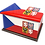 Personalised Custom Cremation Ashes Caskets COUNTRY AND BRITISH COUNTY FLAGS CZECH REPUBLIC