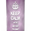 Personalised Custom Bespoke Ashes Scattering Tube Urn for Cremated Remains in a Hobby Interest KEEP CALM design