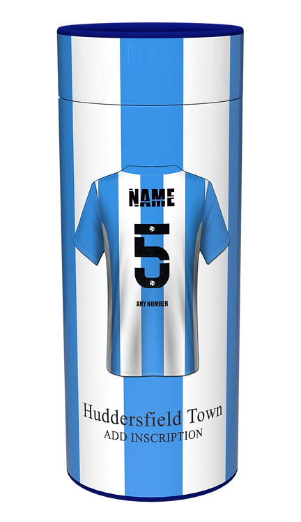 Custom Personalised Cremation Ashes Casket Scatter Tube FOOTBALL HUDDERSFIELD TOWN