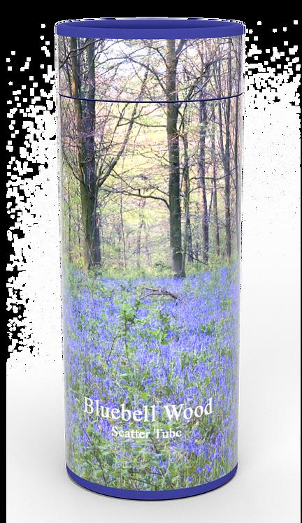 Custom Personalised Funeral Cremation Ashes Casket Urn Floral Flower Designs  BLUEBELL WOOD