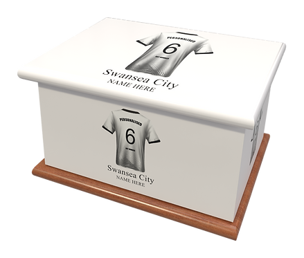 Custom Personalised Cremation Ashes Casket Urn FOOTBALL SWANSEA CITY