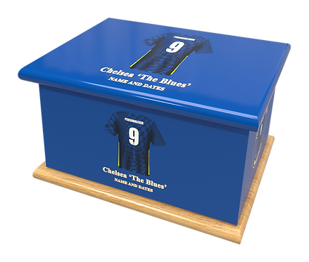 Custom Personalised Cremation Ashes Casket Urn CHELSEA FC