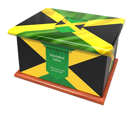 Custom Personalised Cremation Ashes Casket Urn JAMAICA FLAG
