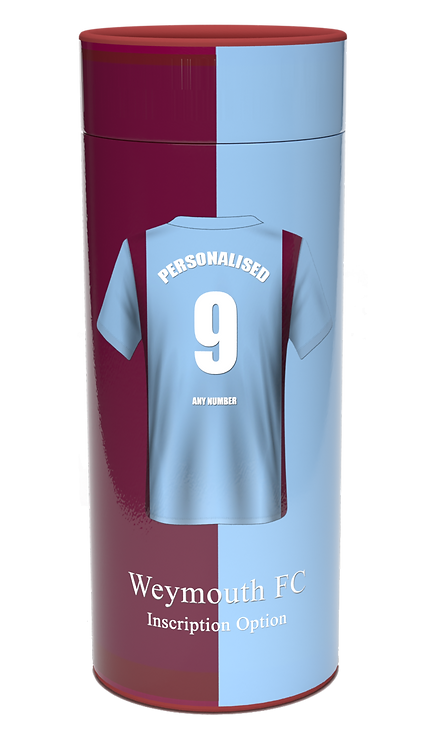 Custom Personalised Cremation Ashes Casket Urns Scatter Tube FOOTBALL TEAM WEYMOUTH