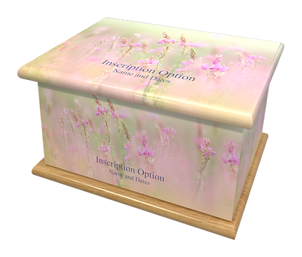 Custom Personalised Cremation Ashes Casket Urn FLORAL MEADOW FLOWERS
