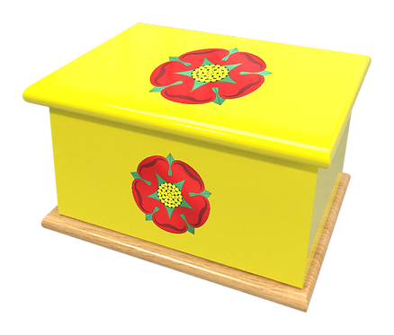 Personalised Custom Cremation Ashes Caskets COUNTRY AND BRITISH COUNTY FLAGS LANCASHIRE