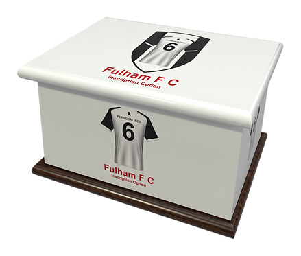 Custom Personalised Cremation Ashes Casket Urn FOOTBALL TEAM FULHAM FC