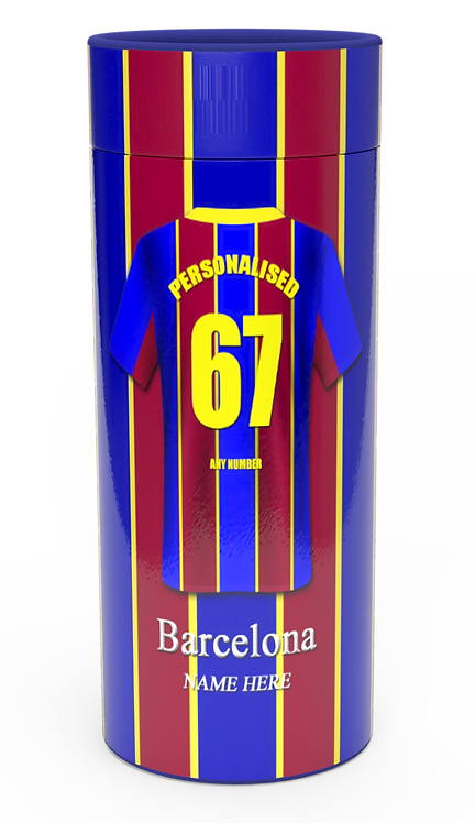 Personalised Custom Cremation Ashes catter Tube Football Team BARCELONA