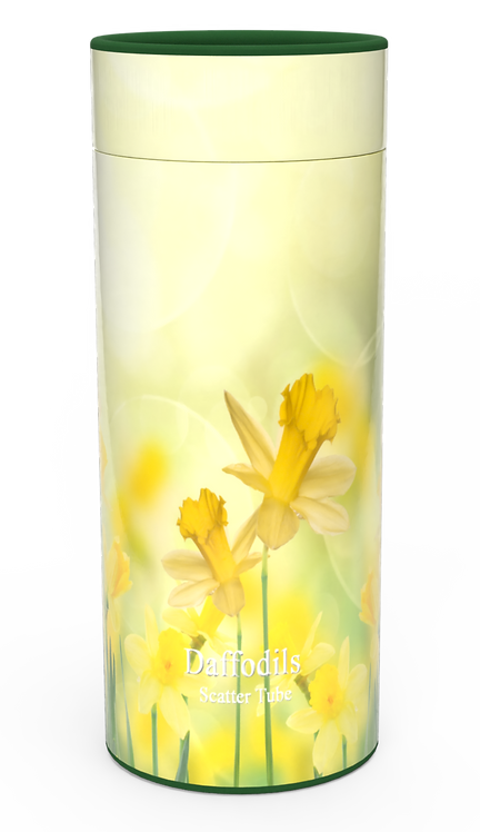 Custom Personalised Funeral Cremation Ashes Casket Urn Floral Flower Designs  DAFFODILS