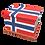 Personalised Custom NORWAY NORWEGIAN FLAG Cremation Ashes Casket
