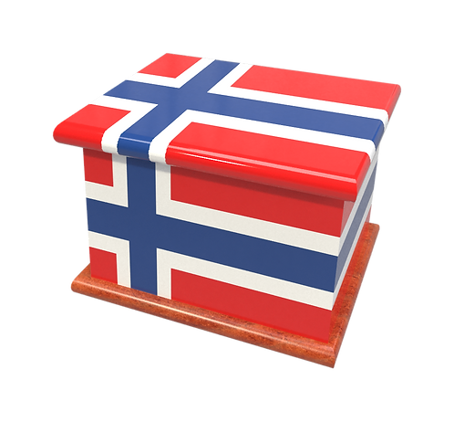 Personalised Custom Cremation Ashes Caskets COUNTRY AND BRITISH COUNTY FLAGS NORWAY NORWEGIAN