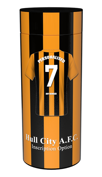 Custom Personalised Cremation Ashes Casket Urn Scatter Tube FOOTBALL HULL CITY AFC