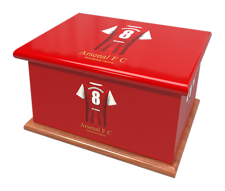 Custom Personalised Cremation Ashes Casket Urn FOOTBALL TEAM ARSENAL FC
