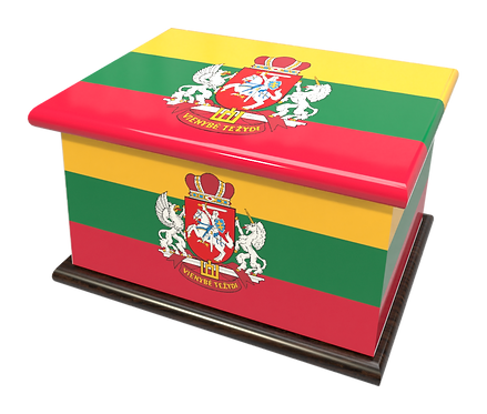Personalised Custom Cremation Ashes Caskets COUNTRY AND BRITISH COUNTY FLAGS LITHUANIA